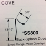 "SS800 - 3/8""Cove Moulding"