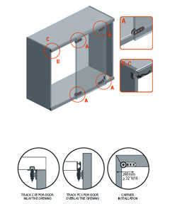 AL 1540 - 4 Sliding Point Door System